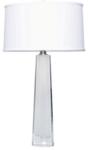 "Table Lamps 1-Light With Clear Crystal, E26 Bulb Type 32""."