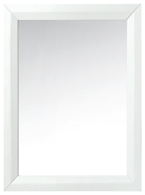 Ancerre Designs Solid Wood Mirror, White.