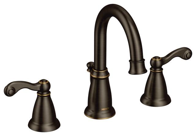 Moen Traditional Mediterranean Bronze Two-Handle Bathroom Faucet WS84004BRB