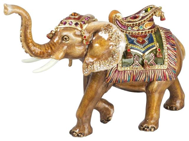 Jay Strongwater Jewel Elephant Figurine Jewel Finish