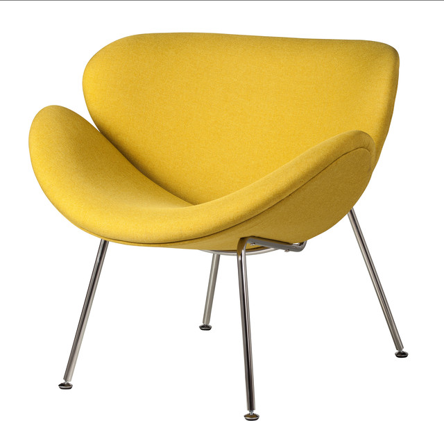 Pleasing Midcentury Modern Lounge Chair Yellow Frankydiablos Diy Chair Ideas Frankydiabloscom