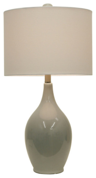 Anabelle Ceramic Table Lamp, French Blue.