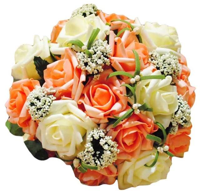 Artificial Flower Champagne Rose Modern Artificial Flower Arrangements By Blancho Bedding
