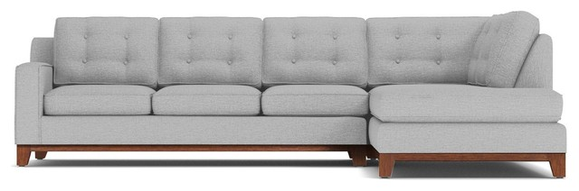 Brentwood 2-Piece Sectional Sleeper Sofa, Silver, Chaise on Left