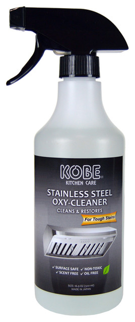 KOBE Stainless Steel Oxy-Cleaner, Cleans and Restores, Scent Free, Non-Toxic, 16