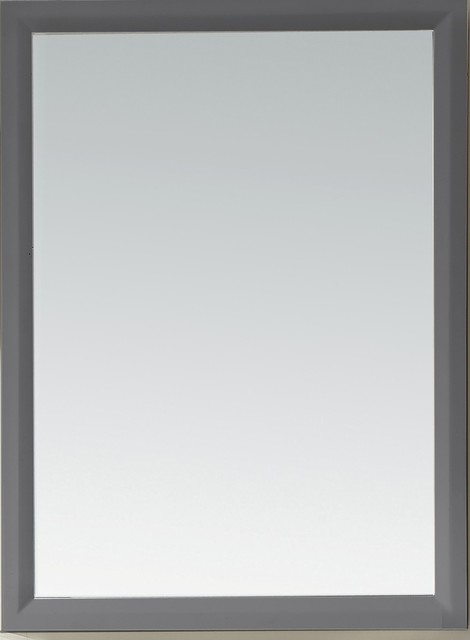 maple gray solid wood mirror
