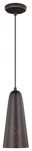Vaxcel Ephraim Outdoor 5&x27;&x27; Pendant Light, Textured Black.
