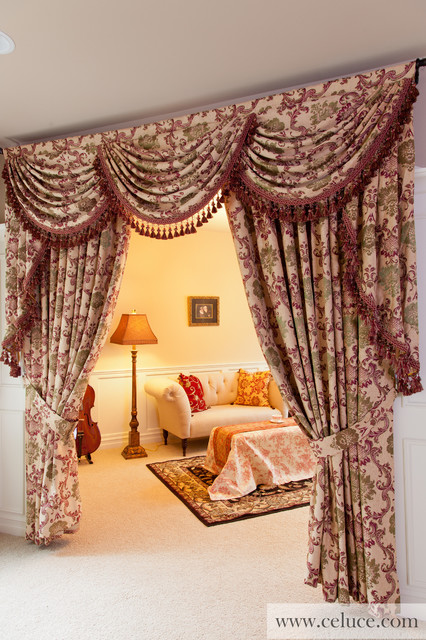 Valance Curtains With Swags And Jabots Traditional