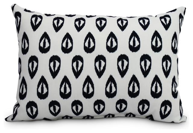 Ikat Tears 14 X20 Decorative Ikat Outdoor Throw Pillow