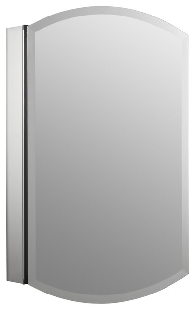 "Kohler Archer Single-Door Aluminum Medicine Cabinet, 20""x31""."