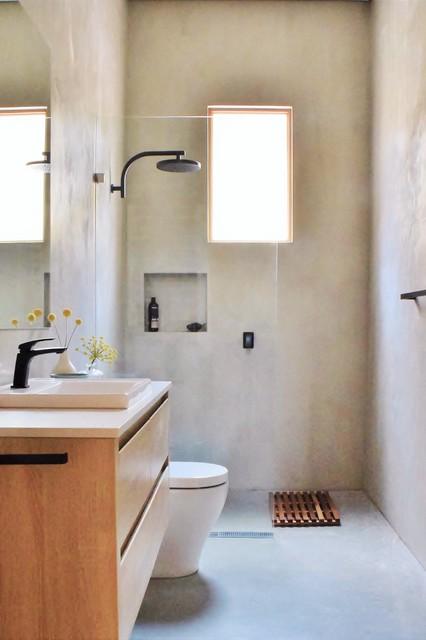 Polished Plaster Bathroom Renovation - Contemporary ...