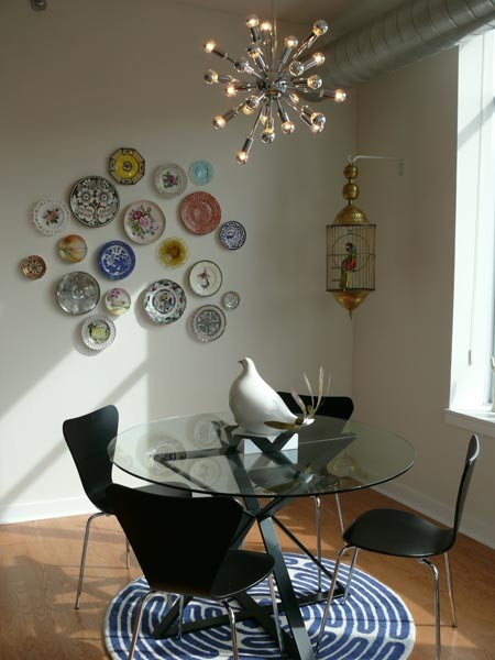 living space eclectic dining room