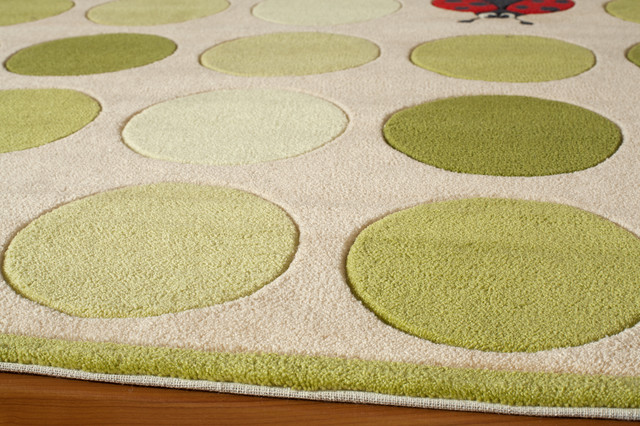 Momeni Lil Mo Whimsy Hand Tufted Polyester Ivory Area Rug, 4'x6'