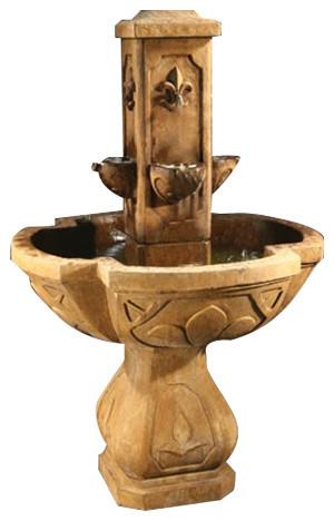 Fleur De Lis Outdoor Water Fountain