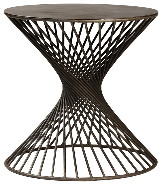 Twisted Iron Side Table Transitional Side Tables And End Tables