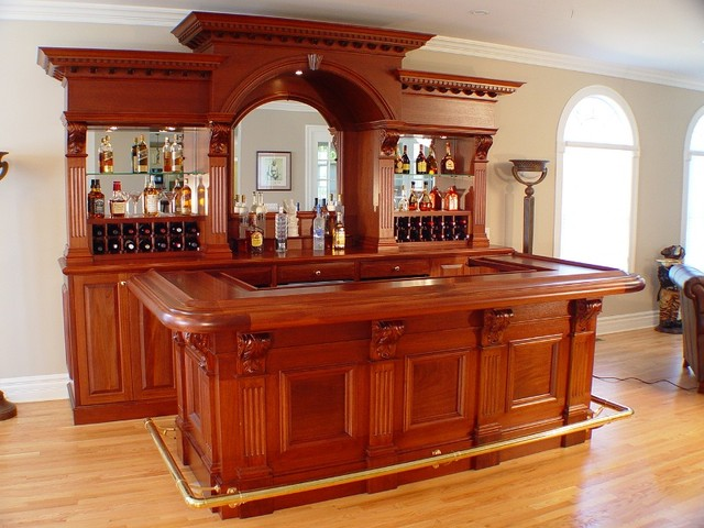 Charming Residential Bar NY Traditional Home Bar