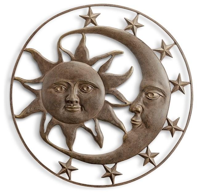 Splendor Sun And Moon Wall Plaque