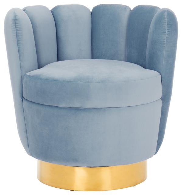 Amazing Safavieh Arrow Channel Tufted Chair Light Blue Theyellowbook Wood Chair Design Ideas Theyellowbookinfo