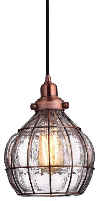 Rustic pendant lighting impressive rustic copper pendant lighting vintage bowl cracked glass pendant light red antique copper lighting aloadofball Images