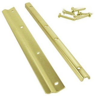 "12"" Swinging Door Latch Guard - Modern - Door Locks - by Greschlers Hardware"