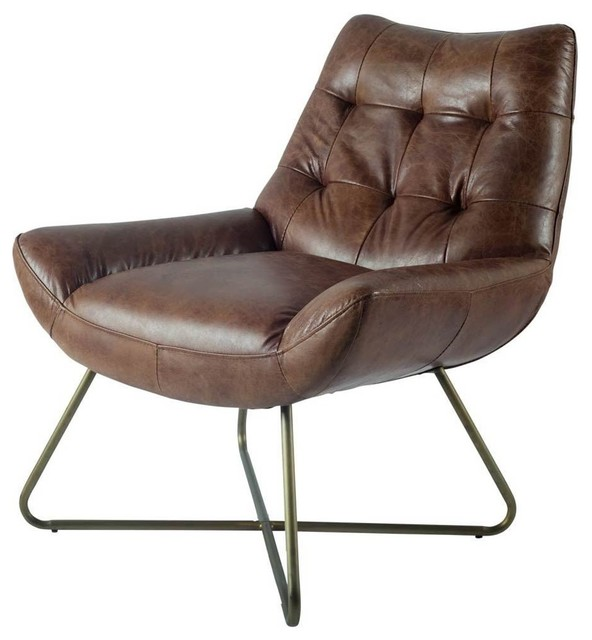 Delicieux Reginald Leather Chair Tobacco   Contemporary   Armchairs And Accent Chairs    By A Warehouse C Furniture