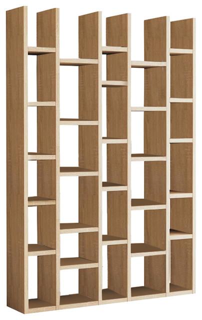 Torero 5 Column Bookcase, Oak