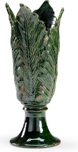 Leaf Vase - Glossy Green, Large