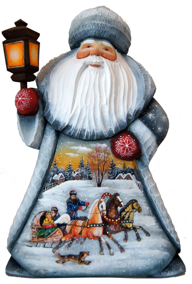 Old World Santa Wood Carved Troika Traditional Holiday Accents And Figurines By G Debrekht