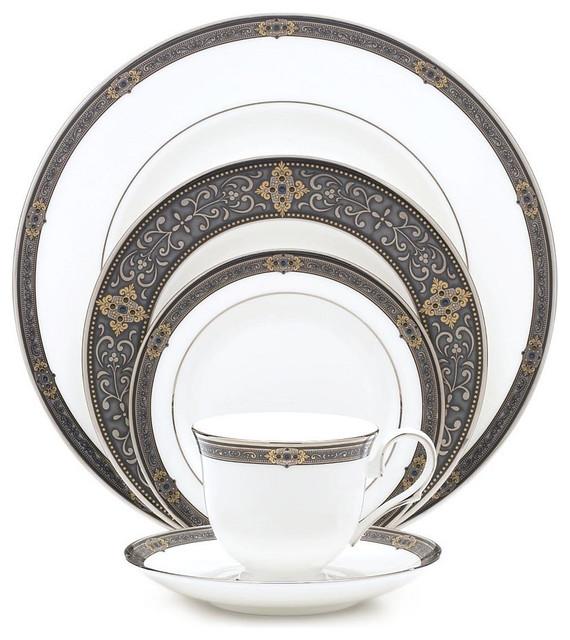 Mediterranean Style Dinnerware: Lenox Vintage-Style Jewel 5-Piece Place