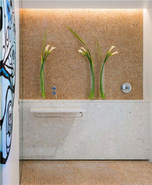 Habitus Cork Mosaic Penny Tile Modern