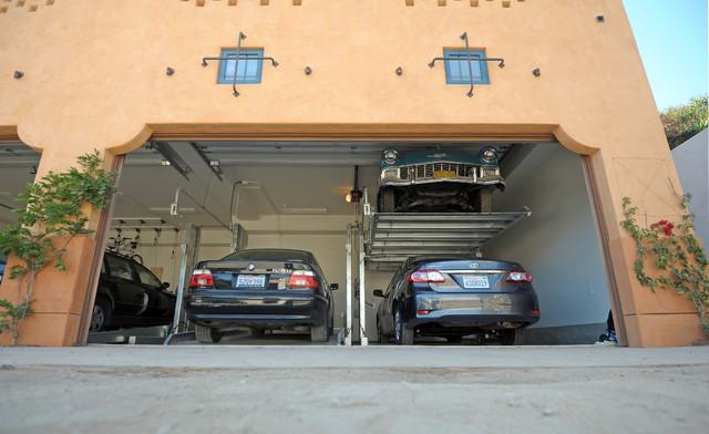 Victoria Garden Mews LEED Platinum Condos Car Lift Mediterranean Garage