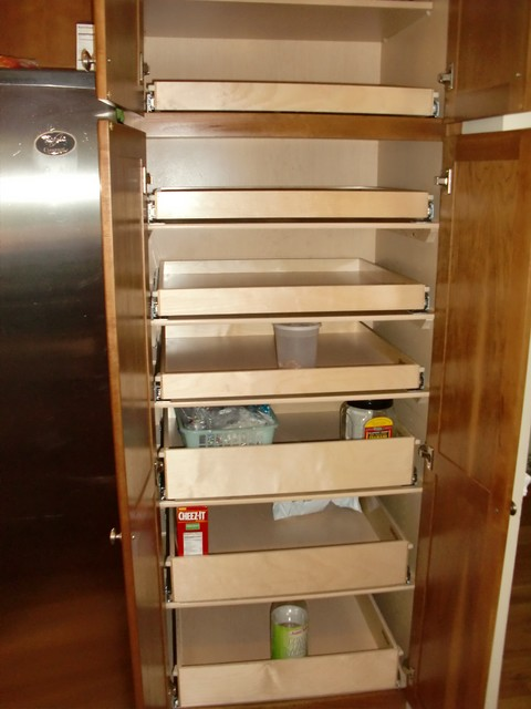 Cabinet pantry pull out shelves boston by shelfgenie for Pull out drawers for kitchen cabinets