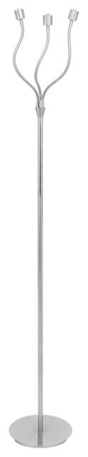 Lumisource Triflex Led Floor Lamp In Nickel.