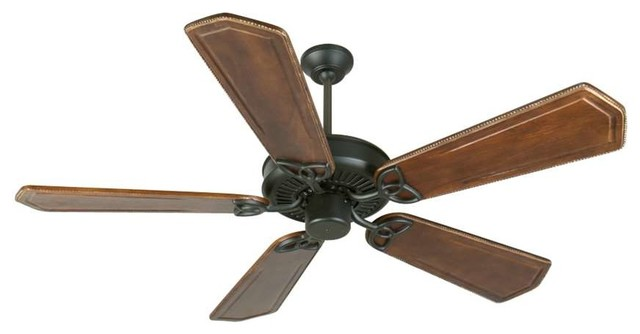 Craftmade Ceiling Fan, Flat Black Cxl With 56 Blades.