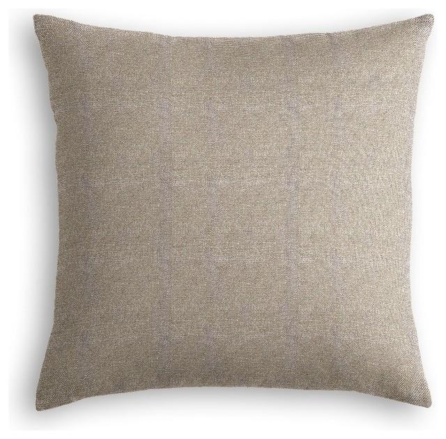 Grey Linen Throw Pillow : Silvery Gray Metallic Linen Throw Pillow - Transitional - Decorative Pillows - by Loom Decor