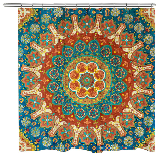 Laural Home Spice Mandala Shower Curtain