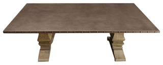 Homelegance Anna Claire Rectangular Dining Table in Driftwood
