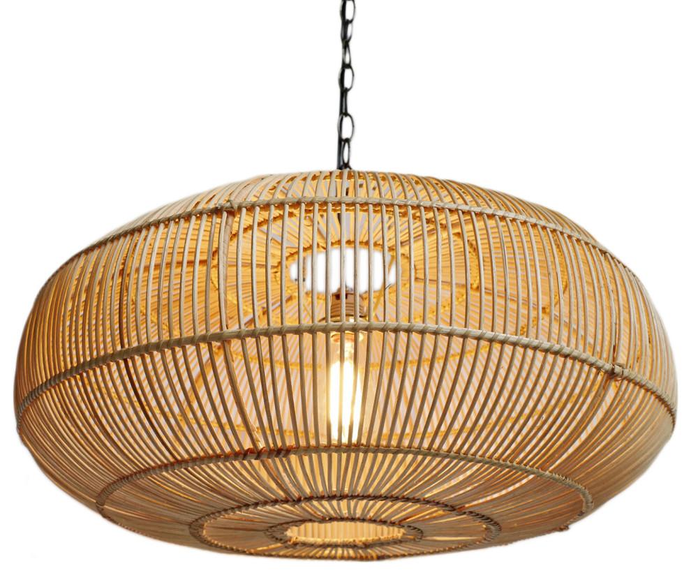 Ubud Rattan Lantern Small - Tropical - Pendant Lighting ...
