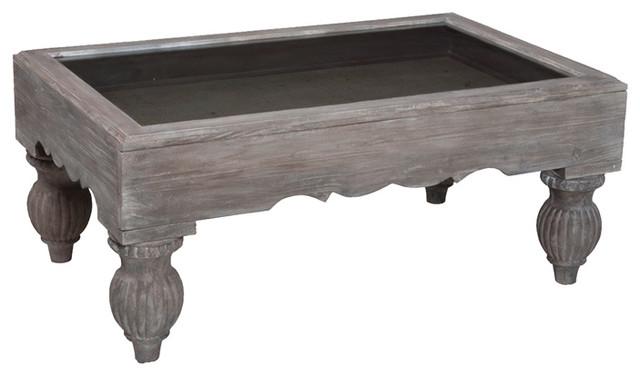 Gray Shadow Box Coffee Table 20x48 Farmhouse Tables