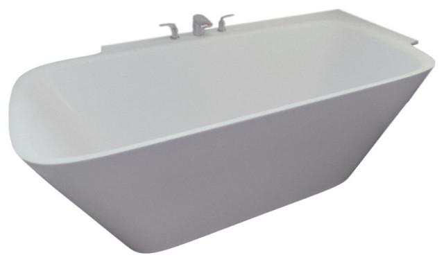 Aquatica Arabella Left Corner Solid Surface Bathtub