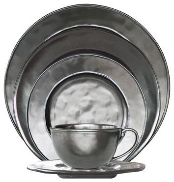 Juliska Mariska Stoneware 5 Piece Round Setting Pewter  sc 1 st  Shapeyourminds.com & White Modern Dinnerware Sets | Shapeyourminds.com