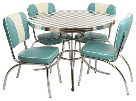 the chubbie checker retro dinette set contemporary dining sets