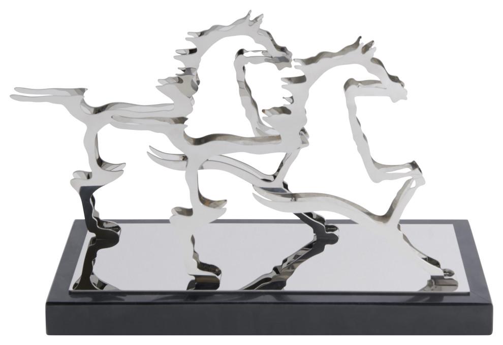Finesse Decor Chrome Gamboa Horse Decor