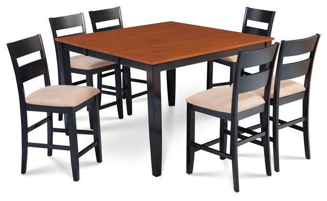 sunderland 7 piece counter height dining set with 18 butterfly leaf