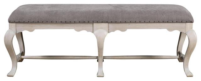 Universal Furniture Elan Bed End Bench, Belgian Wheat 637380.