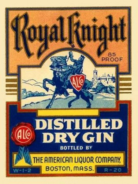Royal Knight Distilled Dry Gin Poster Print By Vintage Booze Labels Midcentury Prints And Posters By Posterazzi