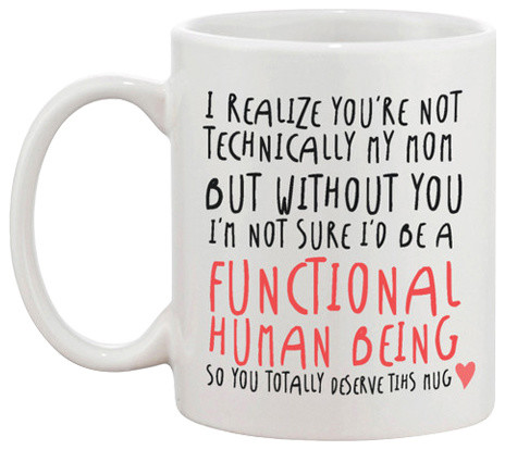 Technically Not My Mom Mothers Day Mug Contemporary Mugs By