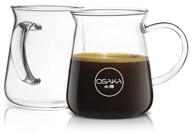 Shop Houzz Osaka Osaka Borosilicate Coffee Glasses Set