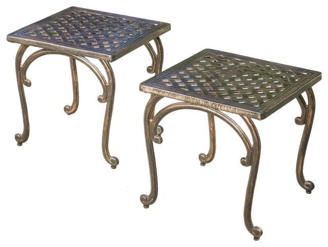 Gdf Studio Hyde Outdoor Cast Aluminium, Outdoor End Tables