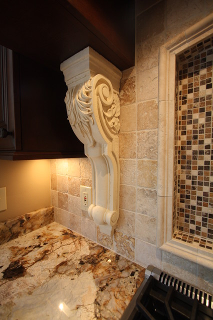 Decorative corbel traditional kitchen cleveland by architectural justice for Decorative corbels interior design